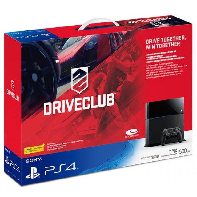 PlayStation 4 System - Driveclub Bundle Set (Jet Black)