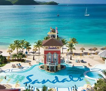 Sandals - St. Lucia - where we went for our honeymoon. would love to go back