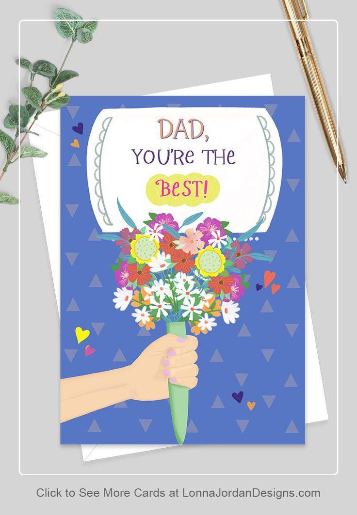 Bouquet Birthday Card For Dad Lonna Jordan Designs in