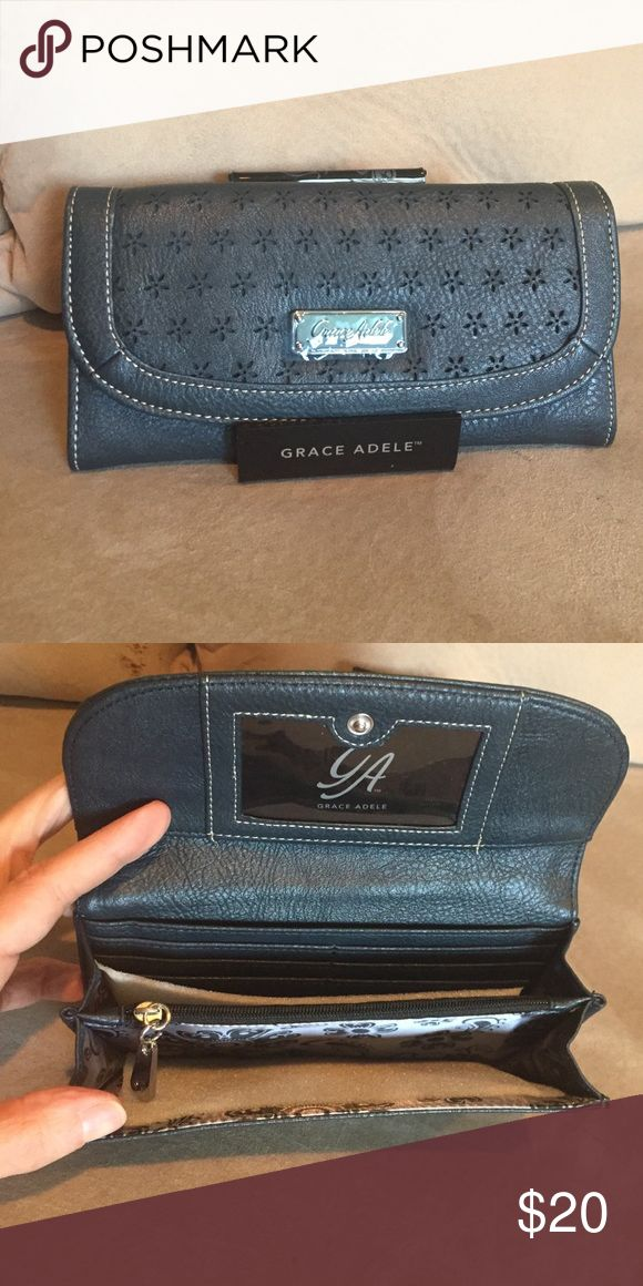 Grace Adele Envelope Wallet NEW out of box. Black stylish wallet. Grace Adele Bags Wallets