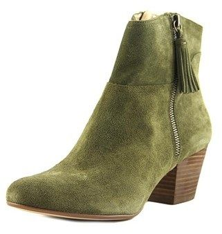 Nine West Hannigan Women Round Toe Leather Green Ankle Boot.