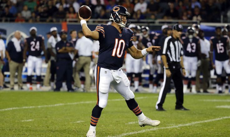Head coach John Fox insists Bears depth chart will remain unchanged = Although the Chicago Bears came up short on Thursday evening against the Denver Broncos, rookie quarterback Mitchell Trubisky stole the show in the end. While playing just over..... https://www.fanprint.com/licenses/chicago-bears?ref=5750