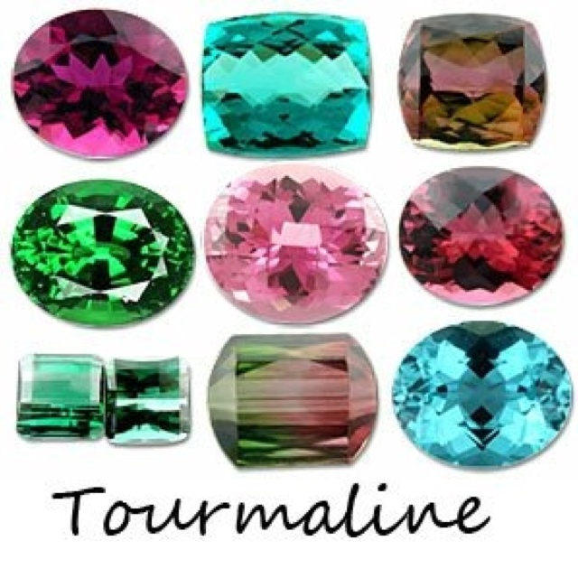 Tourmaline colors | GEMS: mixed 2╰ ╮ | Pinterest