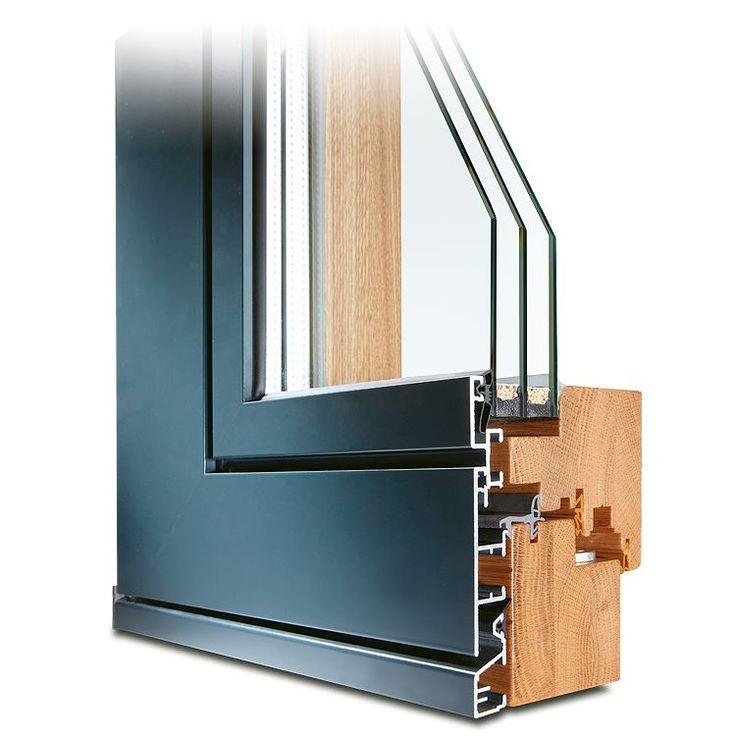 Holz-Alu Fenster Plano aus Eiche