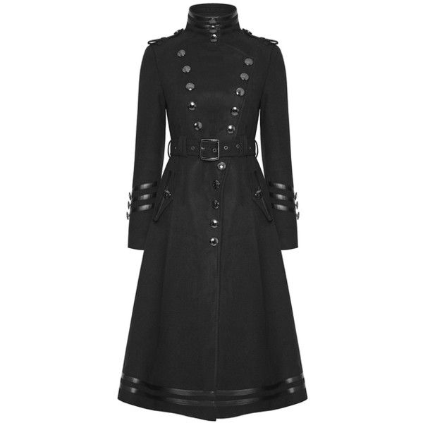 PUNK RAVE DARK DIVISION WOMENS MILITARY COAT Violent Delights ❤ liked on Polyvore featuring outerwear, coats, steampunk coat, army jackets, field jackets, vintage army jacket and vintage coats