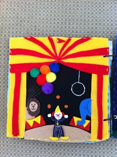 Quiet book circus page