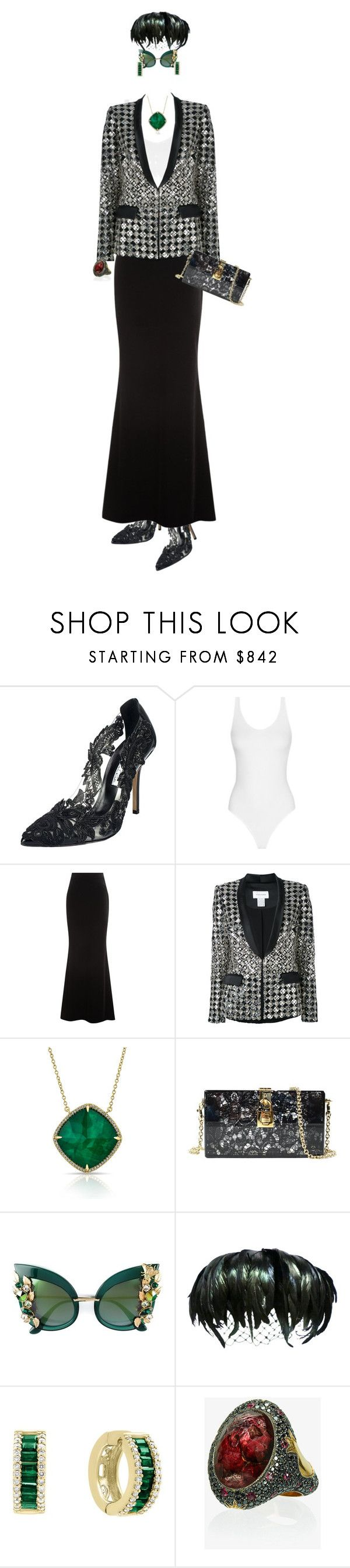 """The Velvet Evening Skirt."" by m-kints ❤ liked on Polyvore featuring Oscar de la Renta, Talbot Runhof, Zuhair Murad, Dolce&Gabbana, Bloomingdale's, Sevan Biçakçi and invisibledolls"