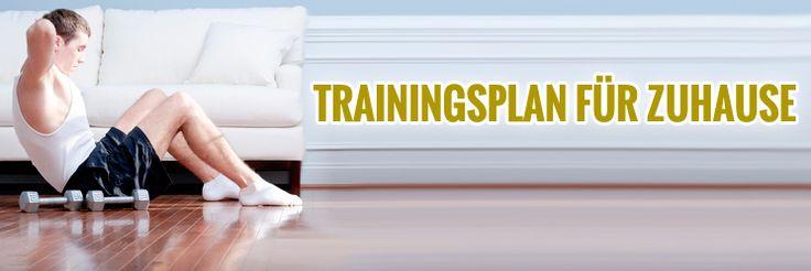 Effektiver #Muskelaufbau #Trainingsplan für Zuhause