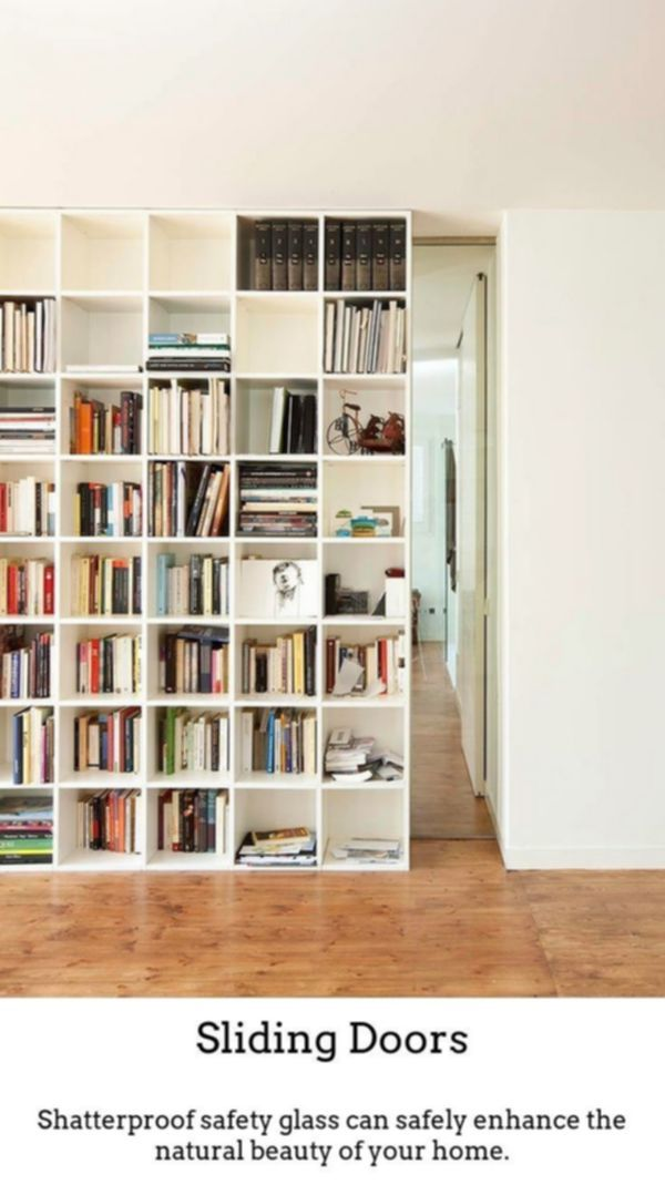 Sliding Doors Have Luxurious Bright And Vivid Spaces While Using Thermally Insulated Gliding And Foldable Do Bookcase Door Home Office Bedroom Bookshelf Door