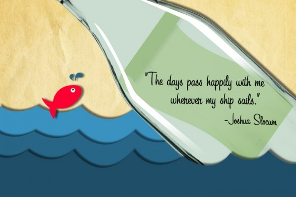 """Boat Quote - """"The days pass happily with me whenever my ship sails."""" #HuntYachts"""