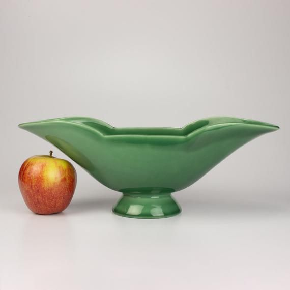 Rookwood Pottery Boat Console Bowl Shape 6826 Emerald Myrtle Green Gloss Glaze In 2020 Rookwood Pottery Decorative Bowls Pottery