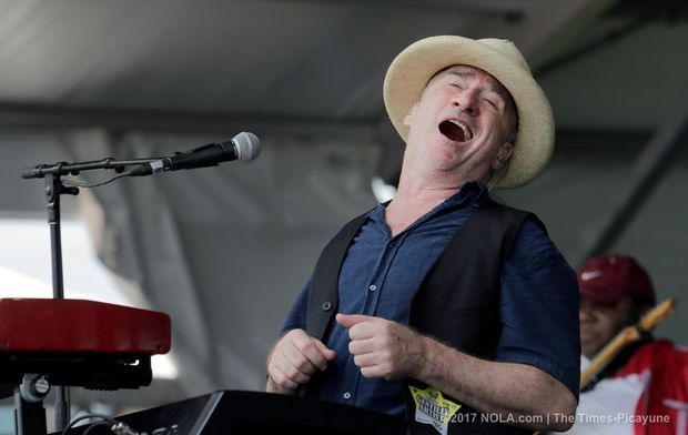 Jon Cleary performs on the Gentilly Stage during the New Orleans Jazz and Heritage Festival at the Fair Grounds in New Orleans on Saturday, April 29, 2017.