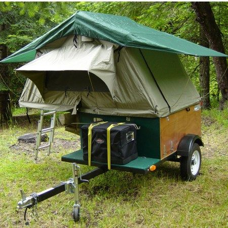 Compact C&ing Trailer with Roof Top Tent Open & 25 best Tent Trialer images on Pinterest | Tent Tents and Camper
