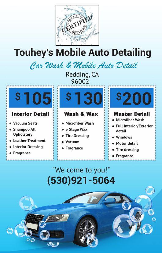 14 best Touheys Auto Detailing  - auto detailing flyer template