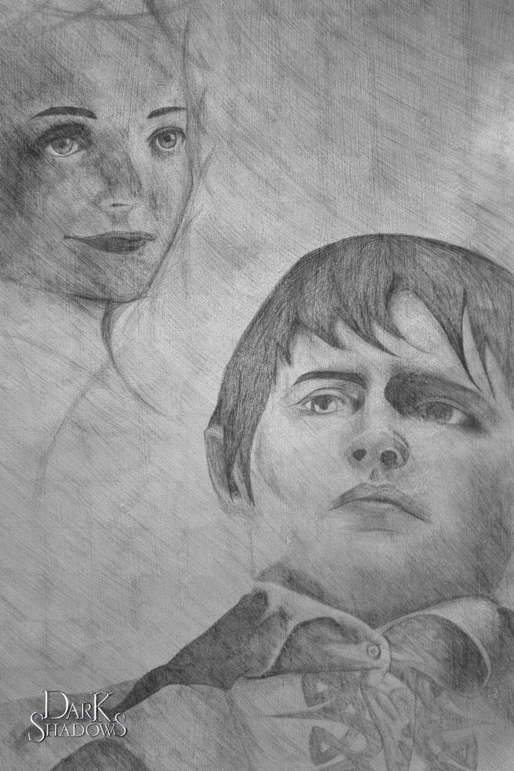 Dark Shadows Silverpoint: Barnabas and His Love by A-Rae-K.deviantart.com on @DeviantArt