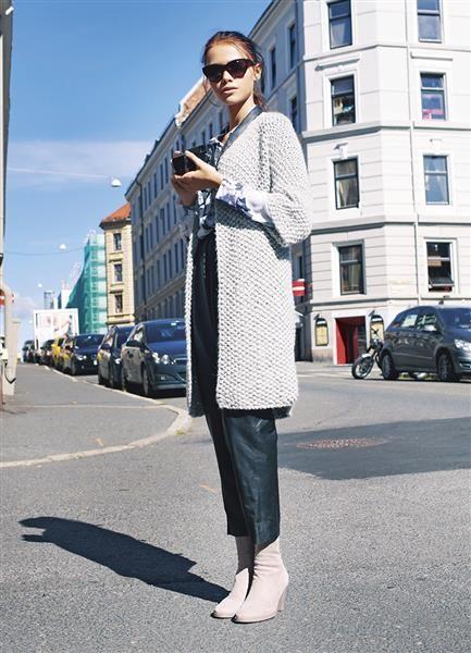 1316 DIY: Modell 3 Perlestrikket jakke #strikk