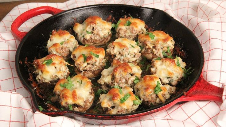 Super Creamy Stuffed Mushrooms (Low Carb) Episode 1240