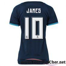 Maillot Football Real Madrid Le Bleu Marine Femme James 10 Third 15 2016 2017 Pas Chere