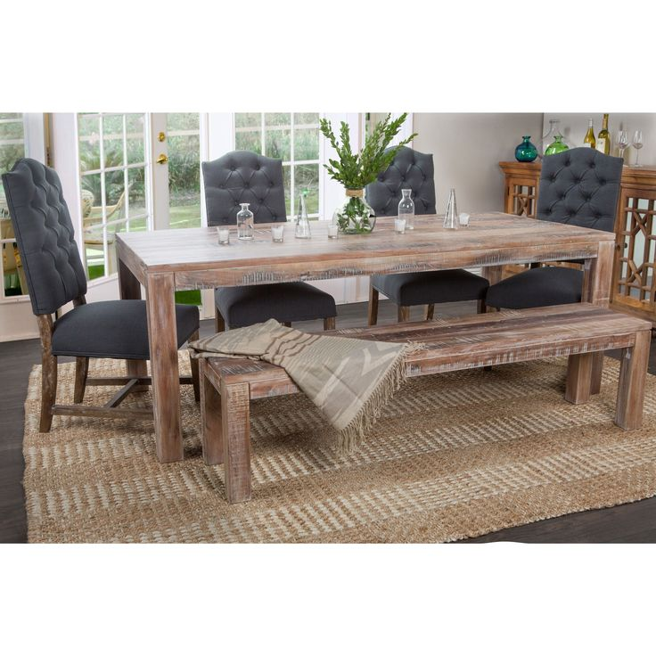 Kosas Home Hamshire 82-inch Dining Table (82-inch Dining Table in Lime Wash), Brown