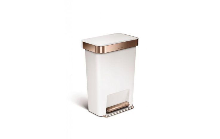 Simplehuman Rectangular Liner Pocket Pedaalemmer 45 L