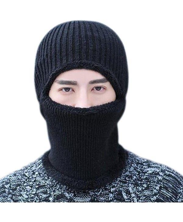ace8207115f Buy Warm Knitted Balaclava Beanie Hat Windproof Ski Face Mask Winter Hats -  Black - CQ187GQTHLT