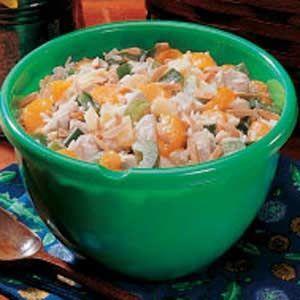 Insalata di riso: integrale con pollo e melone