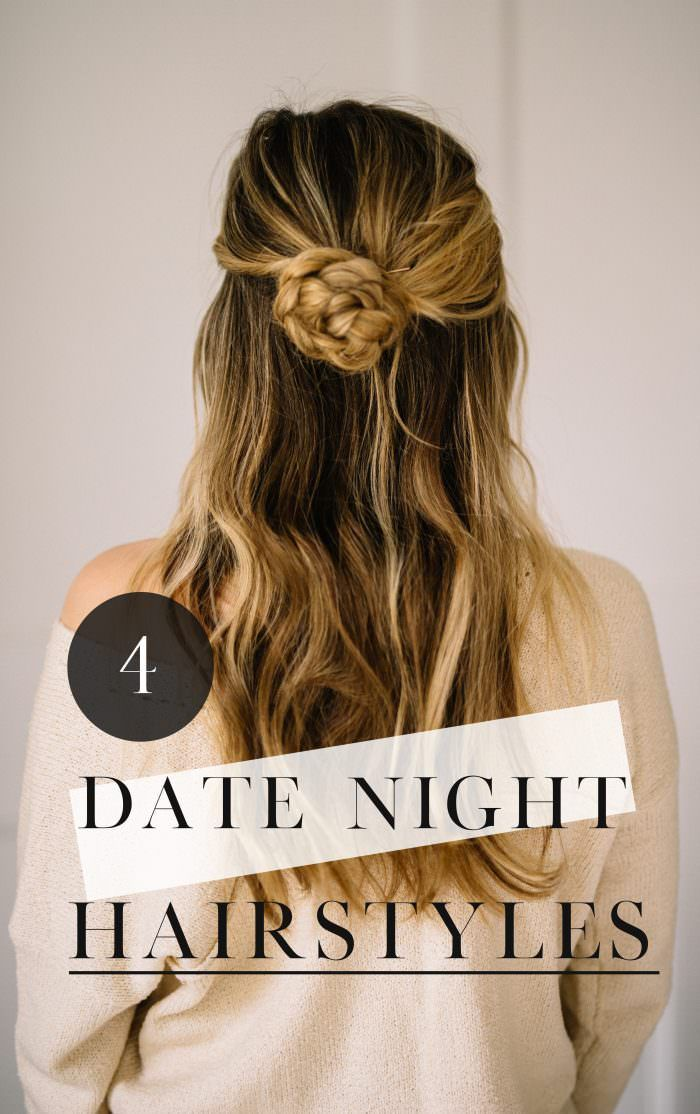 4 Date Night Hairstyles that are quick and easy for busy moms // Hair Styles