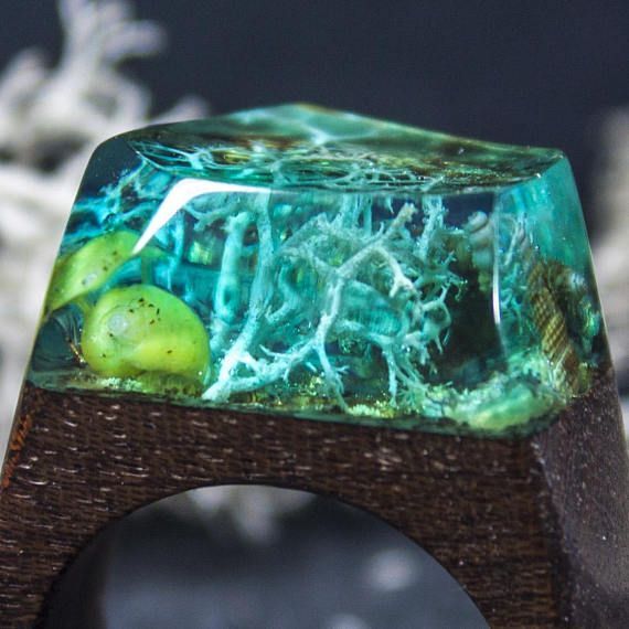 Ocean inspired resin wood ring