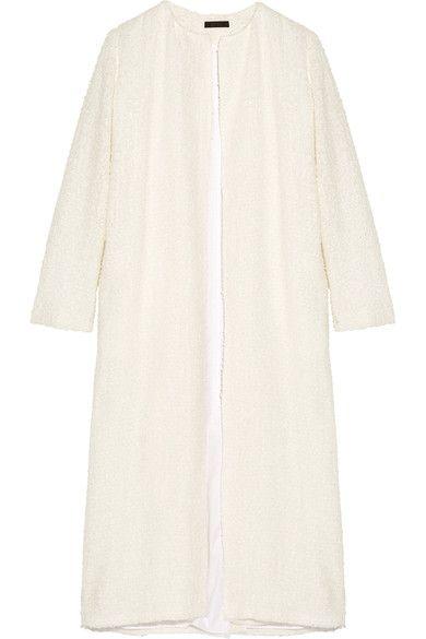 The Row - Pamie Linen-blend Bouclé Coat - Ivory - US0