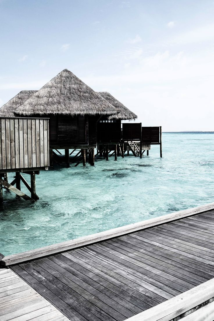 A beautiful water villa in the Maldives, Indian Ocean. I N S T A G R A M @EmilyMohsie