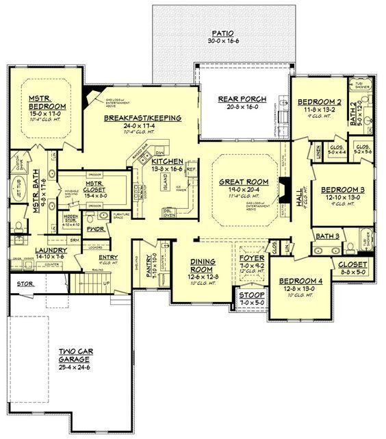 Best 20 high ceilings ideas on pinterest - House plans high ceilings ...