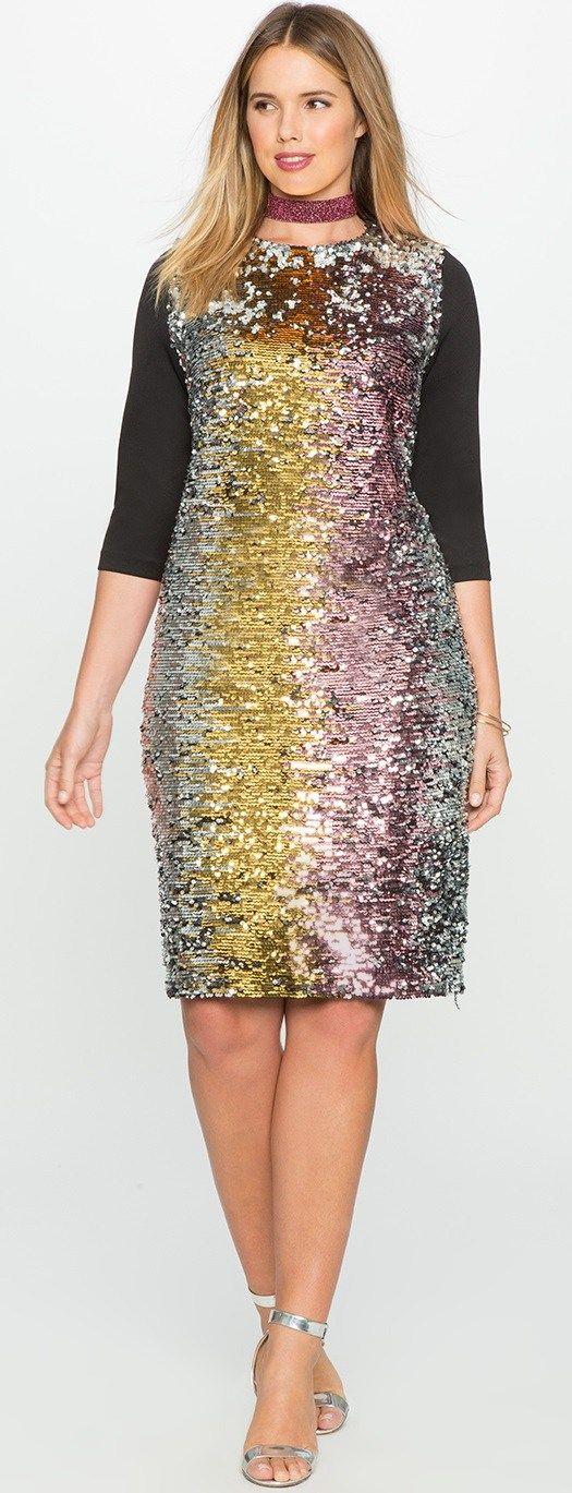 Pinterest\'teki 25\'den fazla en iyi Plus Size Sequin Dresses fikri ...