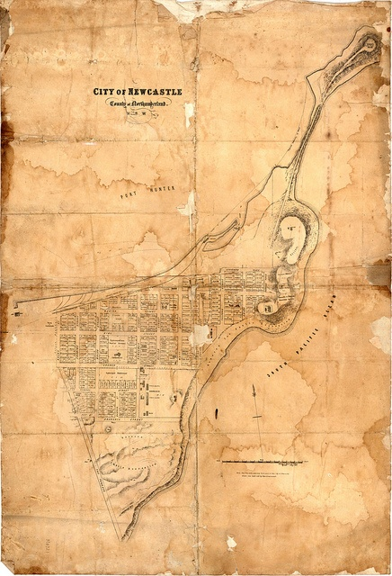 Map of Newcastle 1860
