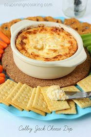 Colby Jack Cheese Dip - 8oz cream cheese, 1 cup mayo, 2 cups shredded Colby Jack cheese. Bake at 400 for 15 mins, covered and 15 mins, uncovered.