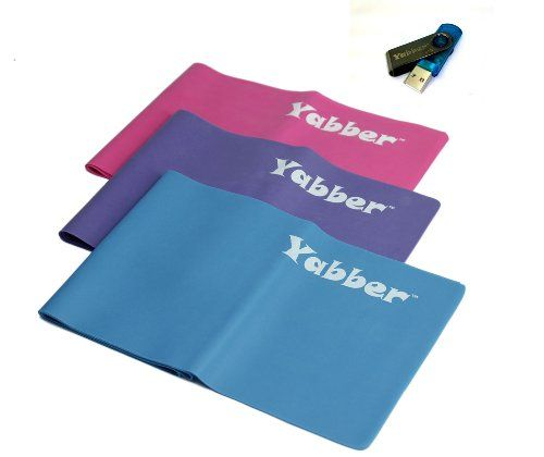 TOPSELLER! Pilates Resistance Bands, Exercise Bands, Yoga Bands, USB with Resist…
