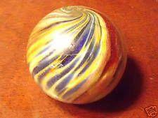 "Superb antique 1 1/2"" size onion skin marble"