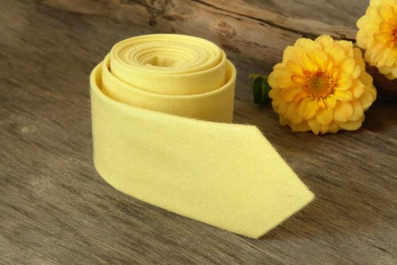 Light Yellow Tie / Lemony Yellow Tie / Men's by TheBestBoysTies