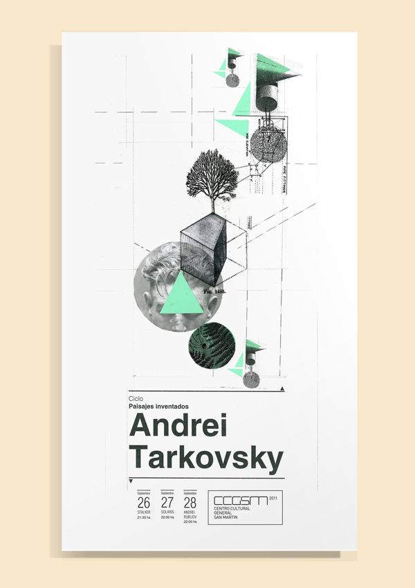 Andrei Tarkovsky by Daniela Romero, via Behance