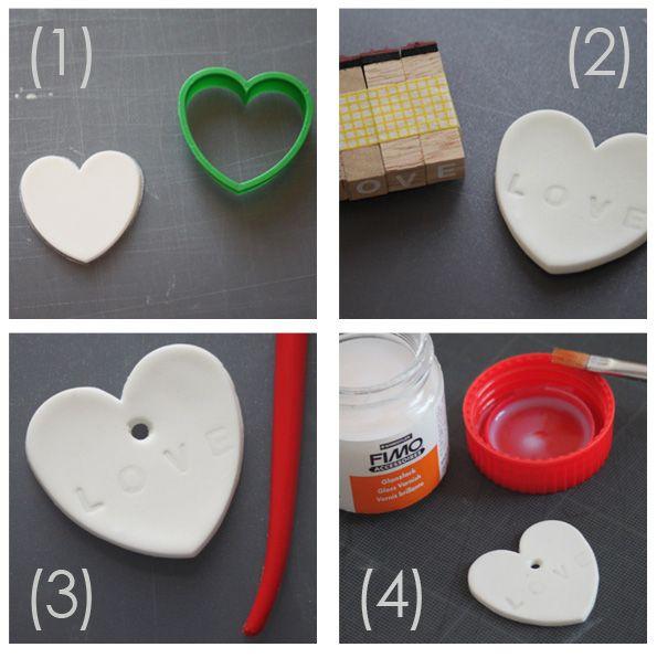 Tuto : étapes réalisation pendentif porcelaine froide