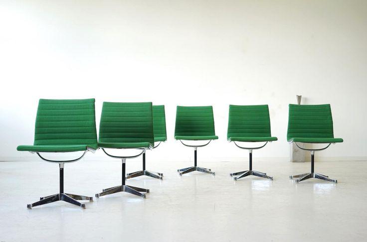 GroB 6x Eames Herman Miller Alu Office Chair Stuhl Stühle Bürostuhl EA 106
