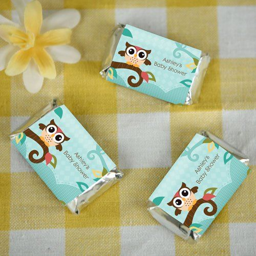 Baby Shower Favors Candy Bar Wrappers ~ Owl baby shower favors to make candy bar wrappers
