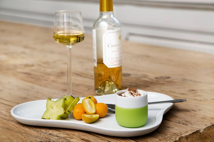 Use Fluted Contrast Espresso Cup for your dessert.