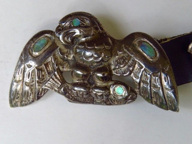 This Concho style Northwest Coast belt was made by Patty Fawn about 15 years ago. I confirmed with her last August at the Santa Fe Indian market that this is the only one of these she ever made. The belt has about 16 ounces of silver in it. | eBay!
