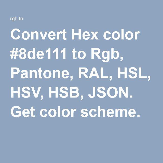 hexadcimal de la couleur couleurs tutoriels convert hex hsb json rgb pantone silhouette goodness