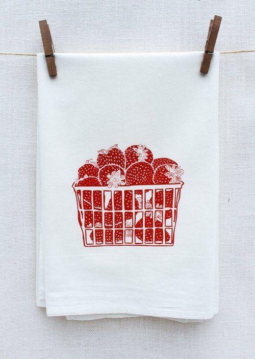 strawberry basket kitchen towel in 2018 kitchen decor pinterest rh pinterest com