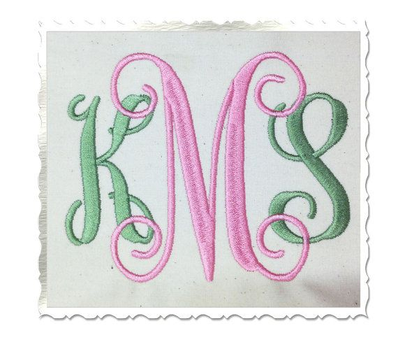 Vine Monogram Machine Embroidery Font by RivermillEmbroidery, $1.95