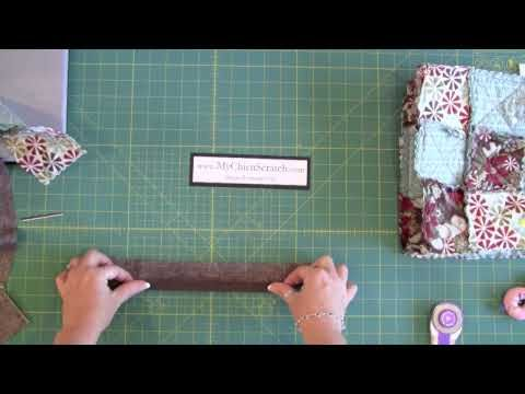 Rag Quilt purse part 2 tutorial video