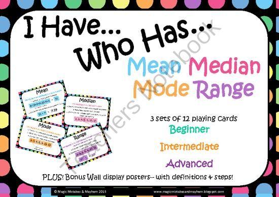 Range Math Is Fun ~ Images about mean median mode range on pinterest