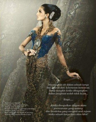 Contoh Model Baju Kebaya Pengantin Modern Karya Anne Avantie Terbaru 2015