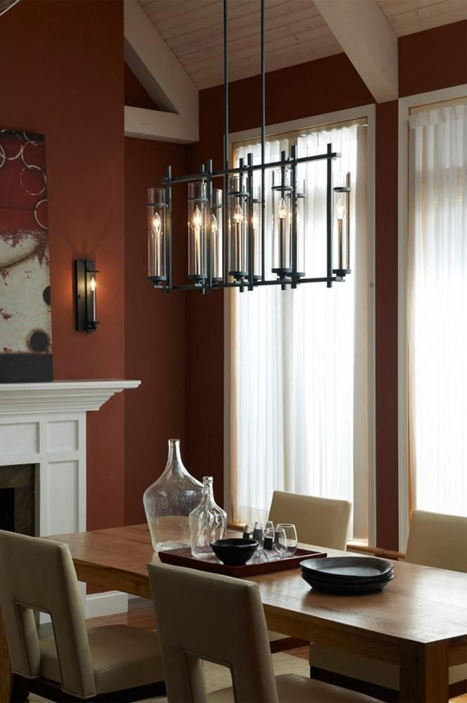 The Ethan Collection Lighting Is A Contemporary Take On Strong Verticals Dining RoomsEclectic